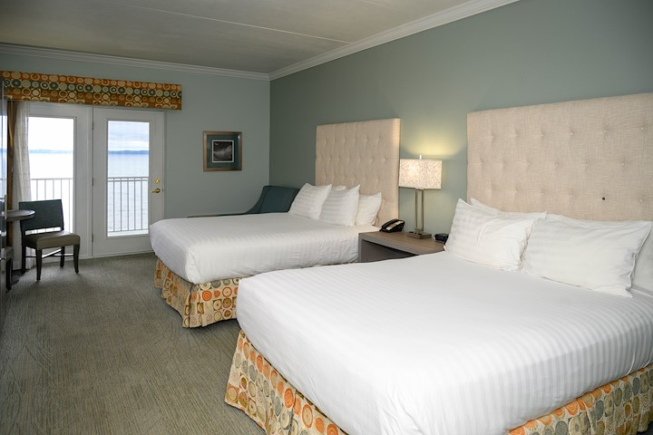 Hotel Room with Two Queen-Size Beds in Traverse City Michigan