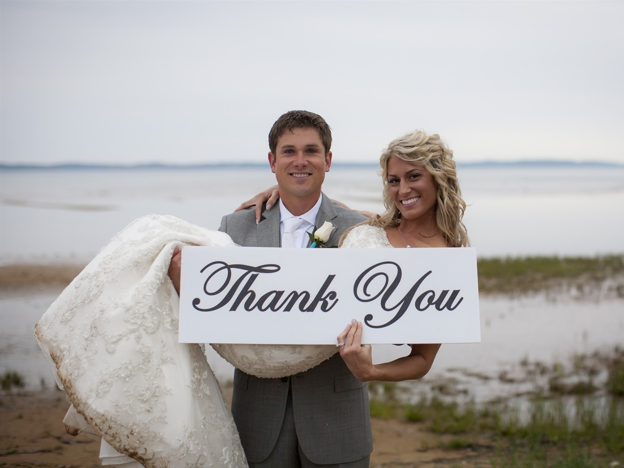 Couple Just Married at Cherry Tree Inn