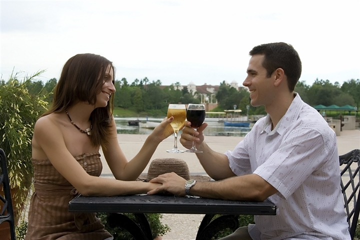 Couple Enjoying Drinks at Cherry Tree Inn in Traverse City