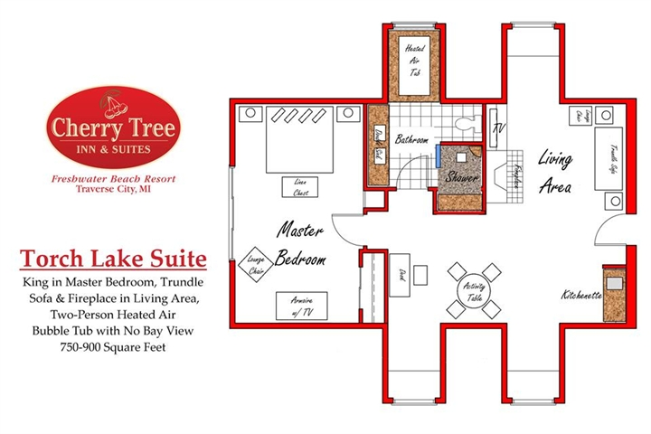 Torch Lake Suite Floor Plan