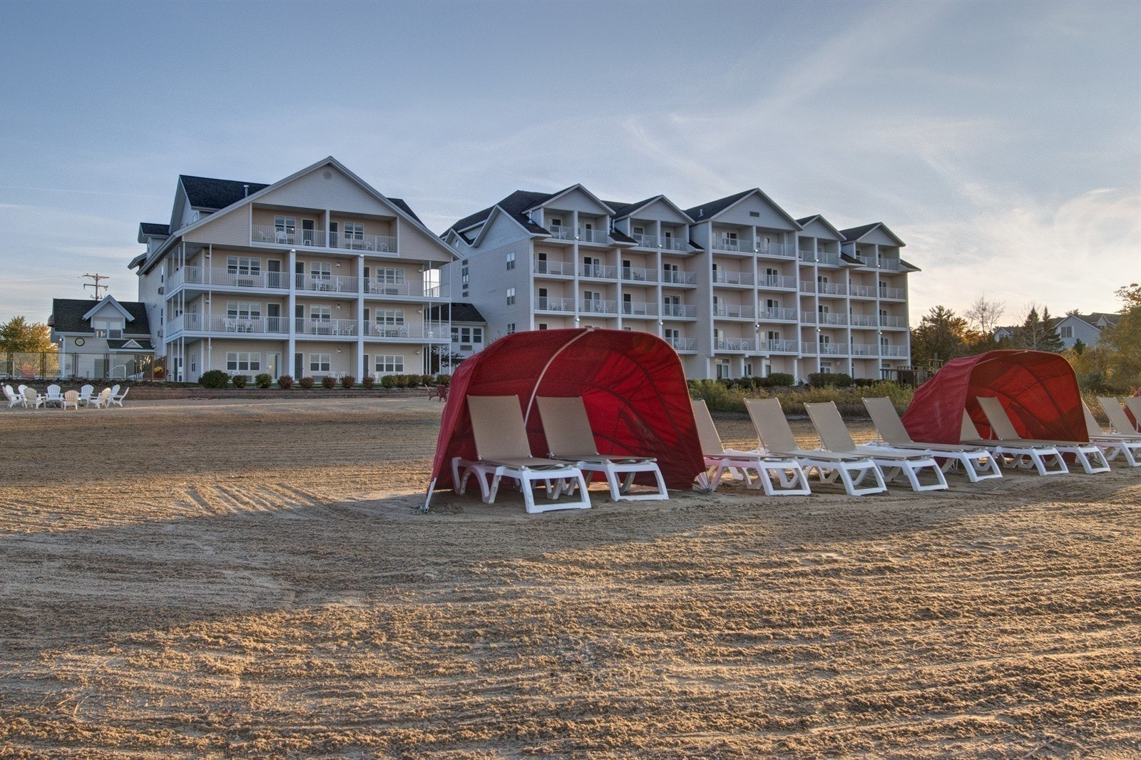 Beach at Cherry Tree Inn & Suites Hotel in Traverse City Michigan